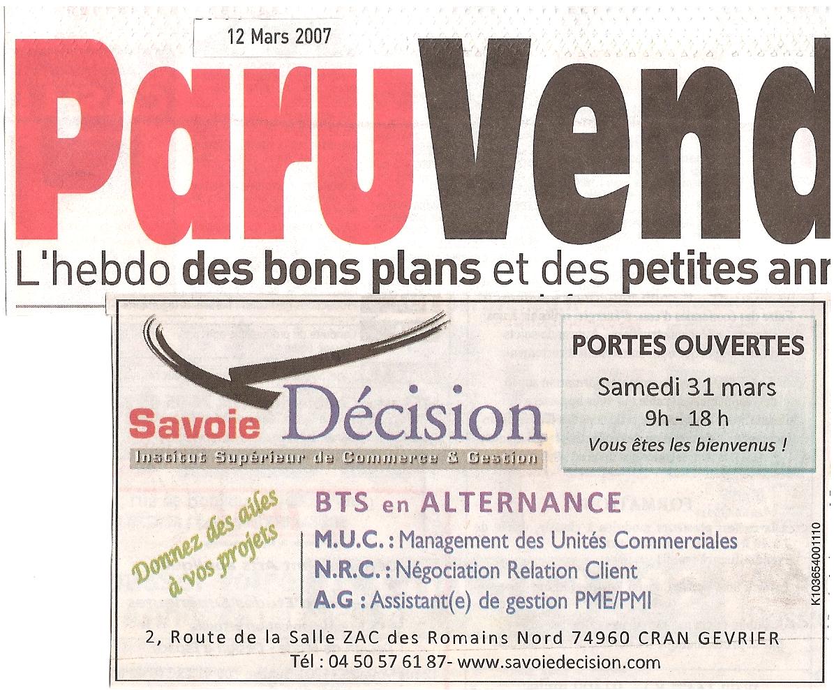 Article du Paru Vendu du Jeudi 12 Mars 2007